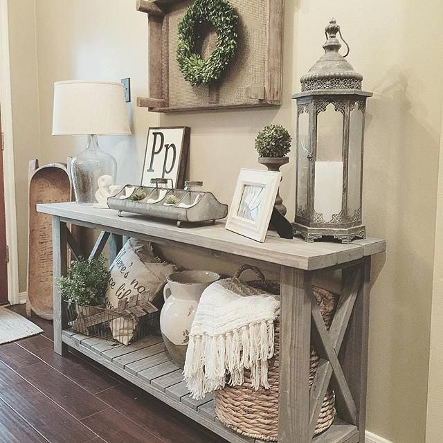 Awesome Ideas For Sofa Table Decor And Farmhouse Console Table Vignette In A Farmhouse Console Table Modern Farmhouse Living Room Decor Farm House Living Room