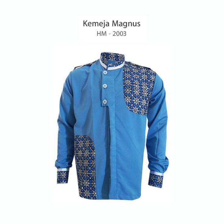 Blue Koko Magnus - HM-2003 #kemejabatikmedogh http://medogh.com/baju-batik-pria/kemeja-batik-pria