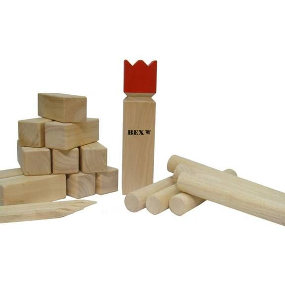 The original Kubb game is made of plantation grown white mahogany and is a well known game not only in Sweden but through out Europe. The game Kubb (pronounced koob) is addictive, employs skill and strategy and has sometimes been called The Viking Chess Game