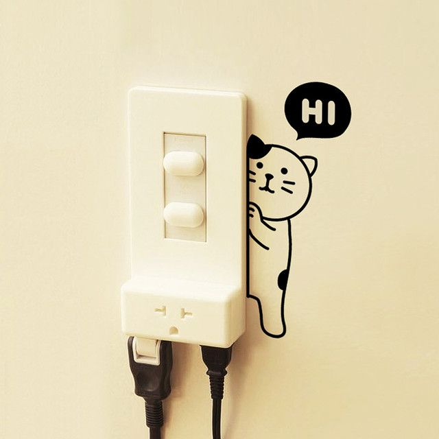 WHY IS THIS BEAUTIFUL KITTY SOLD OUT? I'd have it on every single light switch. Too much cuteness.