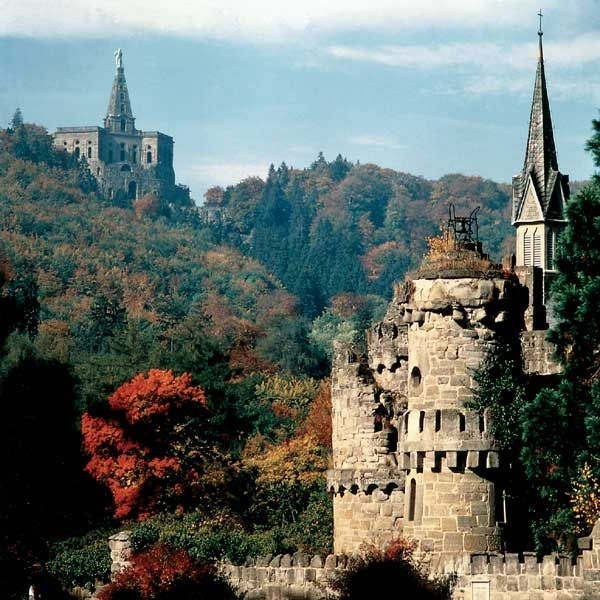 Löwenburg and Hercules Monument in the background ~ Kassel ~ Germany google search