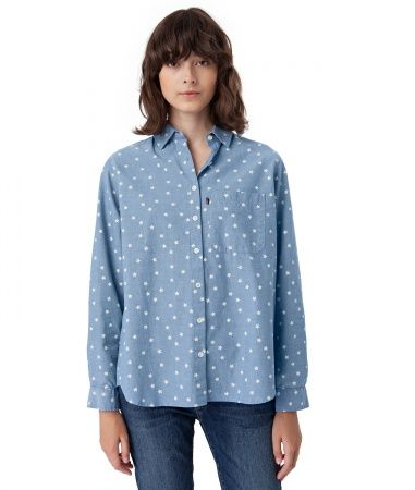 New Arrival! Lexington spring/summer 2017 collection. Lynn Shirt in a casual fit and a fresh and colorful design with a star print, made in soft cotton quality. Blue/white. Find it on https://www.lexingtoncompany.com/women/featured/view_all/lynn-shirt-blue-star-print