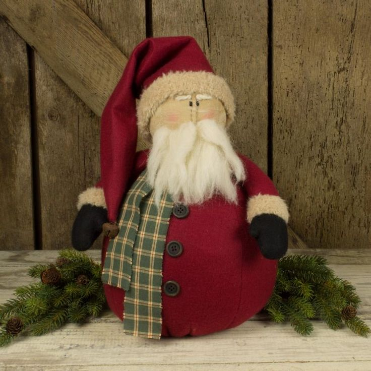 Check out the deal on Large Rolly Polly Chubby Santa at Primitive Home Decors