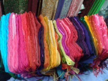 Bhagalpuri silk art dupatta clor & naturals