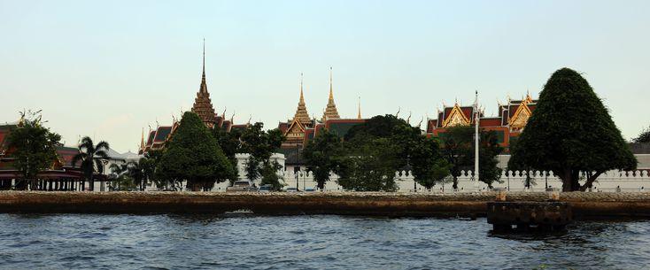 Wat Phra Kaew from Chao Phraya river, Bangkok