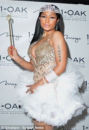 'I'm a fairy f***ing princess': Nicki boasted about her outfit on social media, clearly chuffed with her efforts