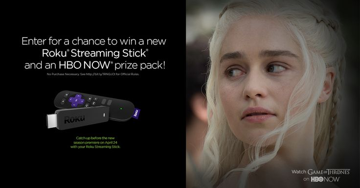 Enter daily for a chance to win a #Roku Streaming Stick and HBO NOW prize pack! #HBONOWonROKU