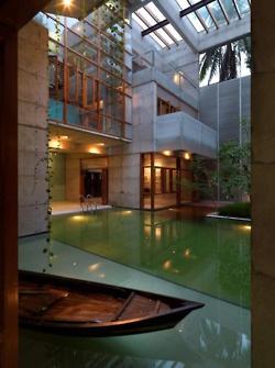 India-courtyard pool-SA Residence, SHATOTTO