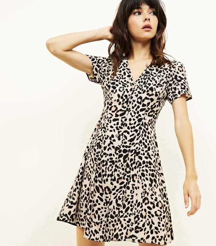 Best leopard print dresses  Zara leopard print halter neck dress ... 48d64341e7