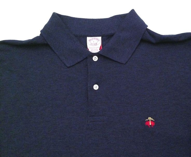 Brooks Brothers Logo Men 39 S Polo Casual Shirt Short Sleeve