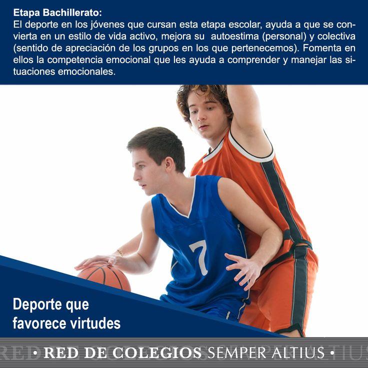 beneficios que tiene el deporte en las distintas etapas de la vida escolar de nuestros hijos. #Deporte #Virtudes #ReddeColegiosSemperAltius
