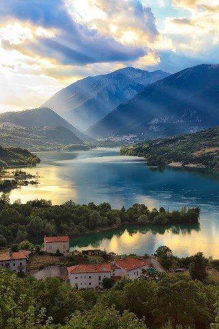 Villetta Barrea lake,province of L'Aquila, Abruzzo, Italy.