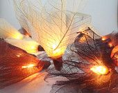 20 Red Bodhi Leave Flower Fairy Lights String 3.5M Home Accent Floral Decor. $13.47, via Etsy.