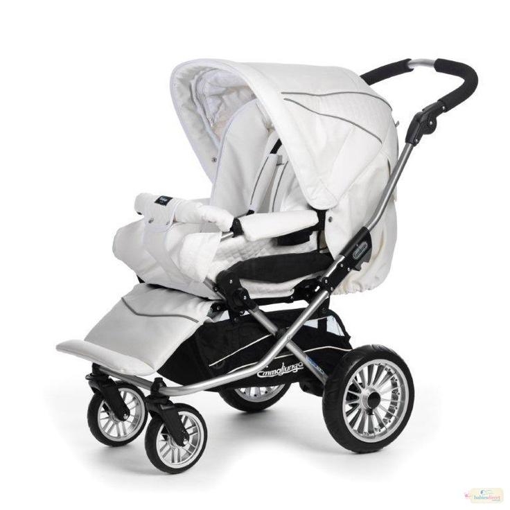EMMALJUNGA NITRO CITY WHITE LEATHERETTE Baby jogger