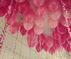 balloons: Helium Balloon, Pink Balloons, Kids Bedrooms, Birthday Parties, Baby Girls Birthday, Parties Ideas, Pinkballoon, Pink Birthday, Pink Parties