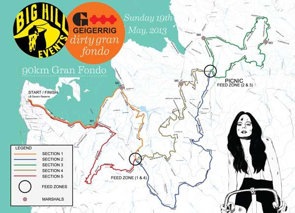 2013 Dirty Gran Fondo - Mountain bike and Cyclocross Event Course Maps