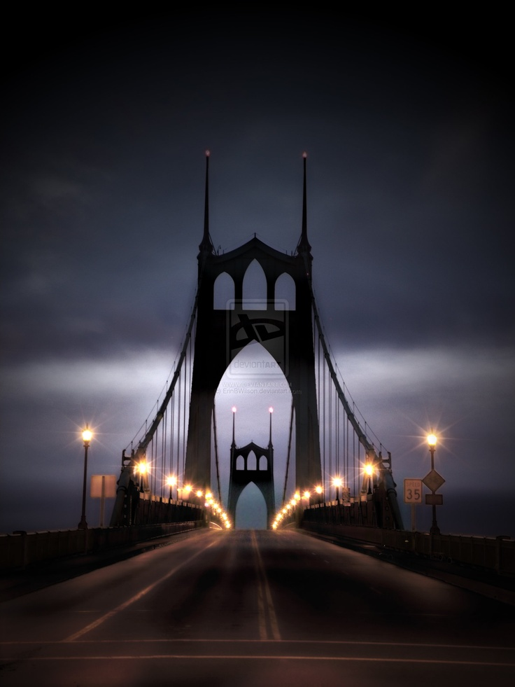 St.Johns bridge in Portland, Oregon. Taken early morning.