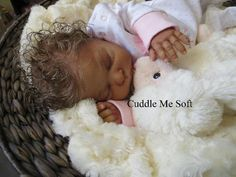 Adopted - Biracial Reborn Doll for sale - www.cuddlemesoft.com