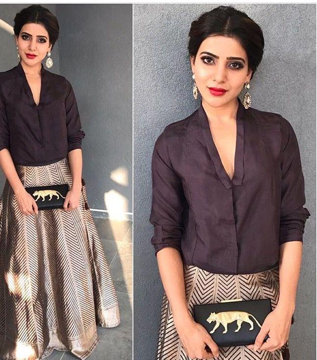 Samantha Prabhu # raw mango # fusion look 2016# Indian fashion #