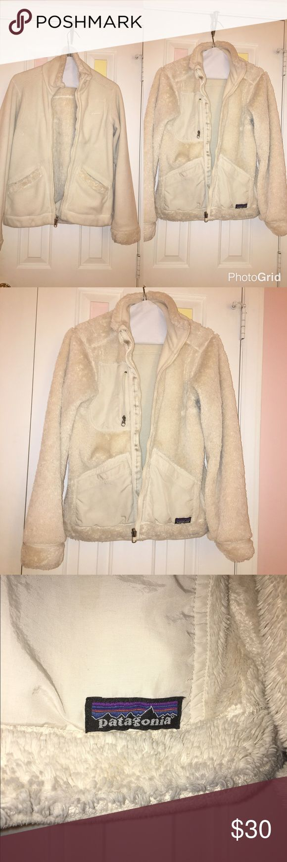Reversible Patagonia Fleece Jacket (zip up) Reversible Patagonia jacket; gently used, size small, zip up, fleece material. Fleece side and fur side. Patagonia Jackets & Coats