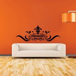 Creative Crown Wall Decal  The Creative Crown Wall Decal will be an excellent décor addition to revamp the overall appeal of any décor scheme. It can be used creatively to jazz up the visual brilliance of any wall, glass panel or door that is smooth and even.  MEDIUM :- 48 X 18 - IN INCHES LARGE   :- 66 X 24 - IN INCHES