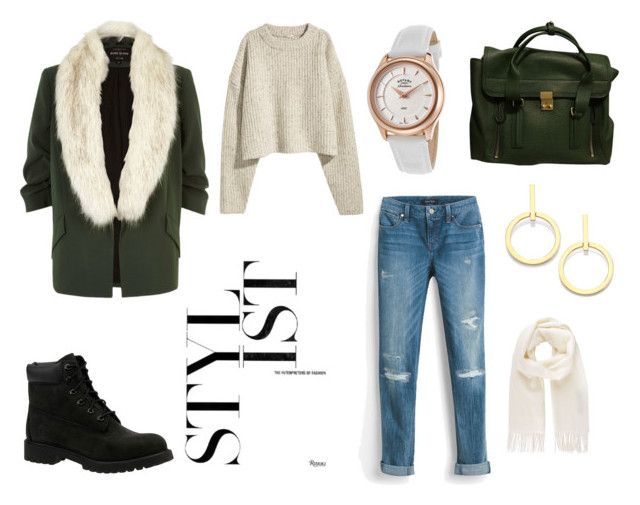 """""""Green Day"""" by elena-anders on Polyvore featuring River Island, White House Black Market, Timberland, 3.1 Phillip Lim, Rotary, Vita Fede and Vivienne Westwood"""