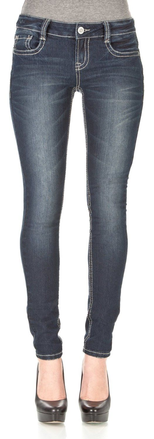 WallFlower Jeans Women's Inseam Sassy Skinny Jeans           ($19.99) http://www.amazon.com/exec/obidos/ASIN/B00EB11MLA/hpb2-20/ASIN/B00EB11MLA They fit perfectly. - I'm a size ten in GAP jeans so I purchased a 11 and they fit perfectly. - I myself have a little shape in my thighs and calves.