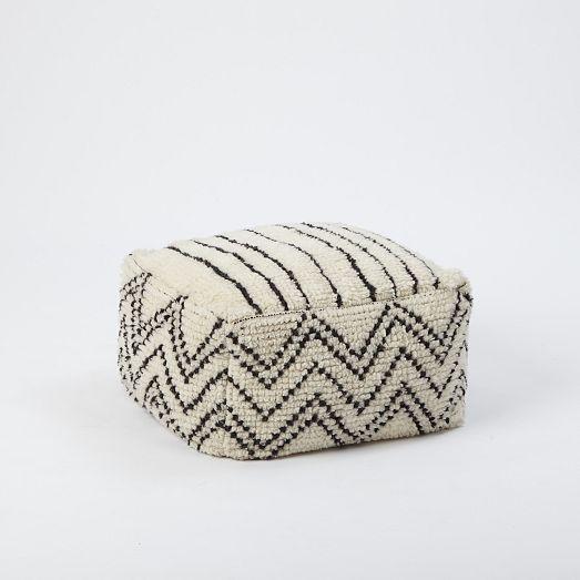 plush moroccan pouf