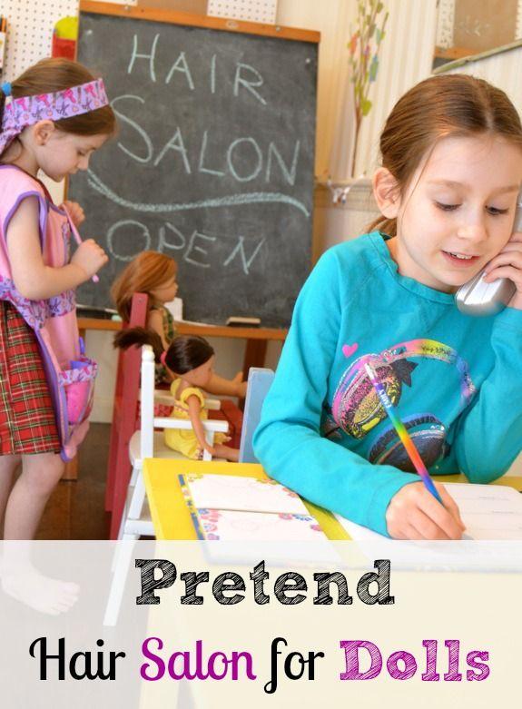 Rainy Day Fun -- Pretend Hair Salon for Dolls #creativePlay #playMatters #ece #indoorFun #parenting #kids