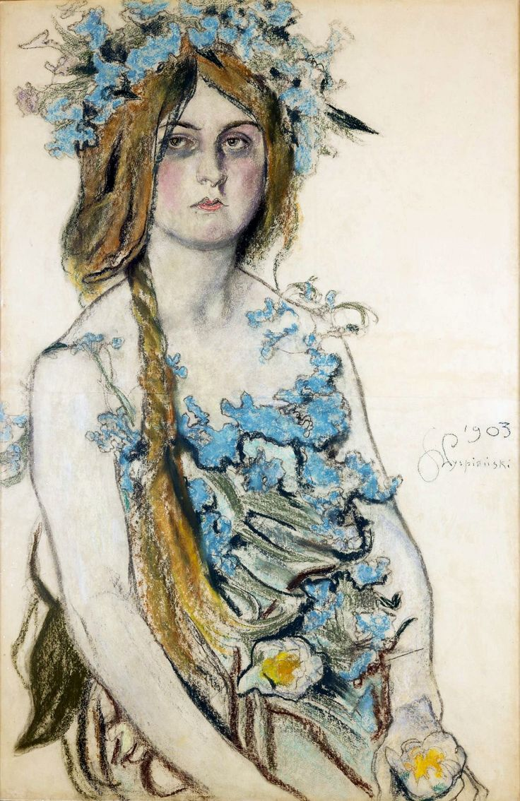 Pastel portrait of actress Władysława Ordon-Sosnowska as Krasawica by Stanisław Wyspiański, 1903 (PD-art/old), Muzeum Narodowe w Krakowie (MNK)