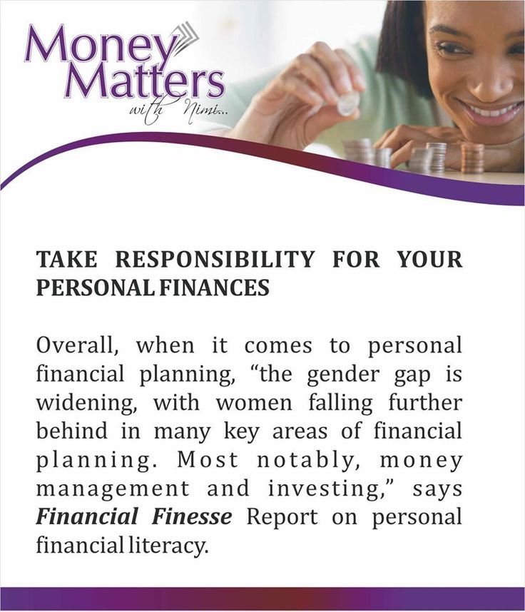 54 best money matters with nimi images on pinterest saving money ladies its time to take responsibility for your personal finances mmwn fandeluxe Gallery