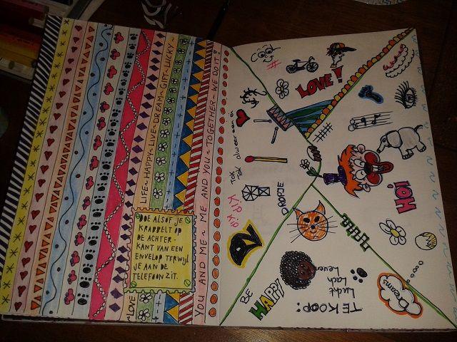 gekrabbel in de kantlijn - wreck this journal