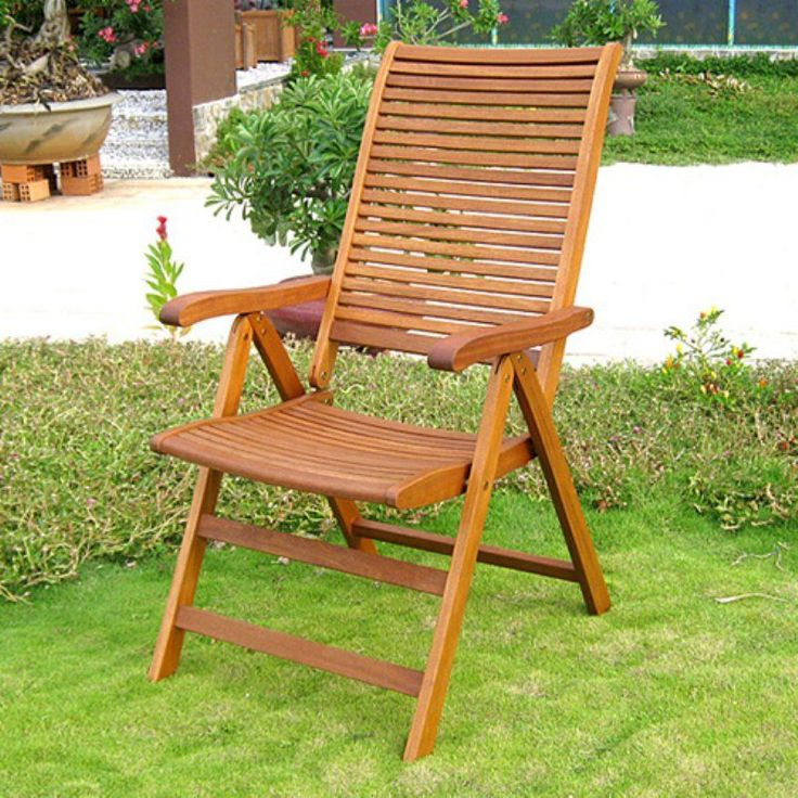 International Caravan Royal Tahiti Freeport 5 Position Outdoor Folding Chair    Set Of 2