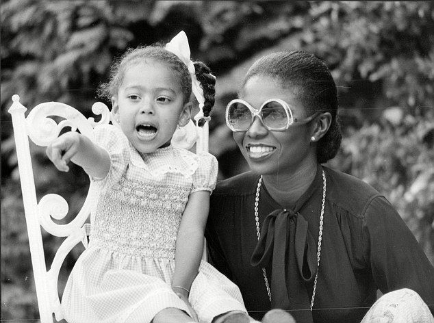 Actress and singer Patti Boulaye and her daughter, Aret.