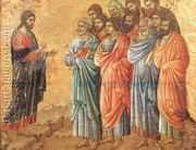 Appearence on the Mountain in Galilee 1308-11  by Duccio Di Buoninsegna