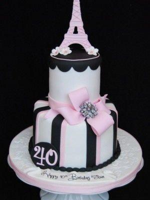Eiffel bolo de aniversário da torre 40