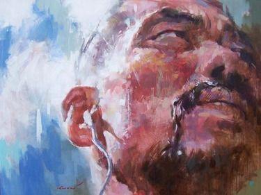 "Saatchi Online Artist Yong-man Kwon; , ""il fait torp beau"" #art"