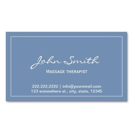 330 best massage business card templates images on pinterest simple blue massage therapist appointment card business card template cheaphphosting Images