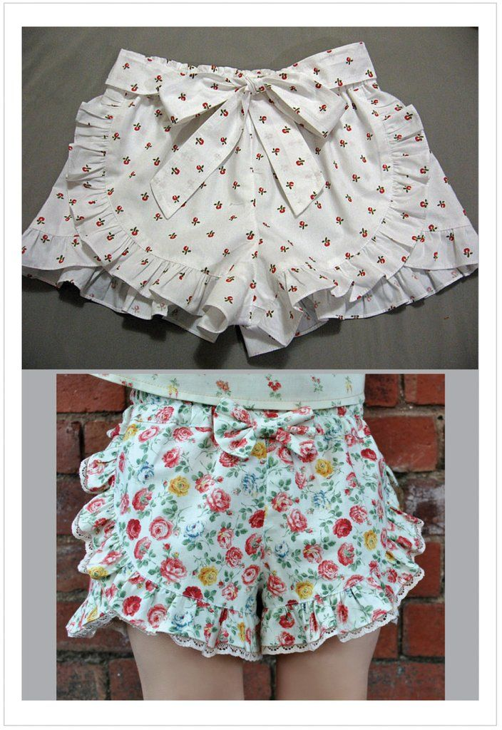 211fbdc497a Girls ruffle edged shorts pdf sewing pattern RUFFLED SHORTS sizes 2 - 12  years.