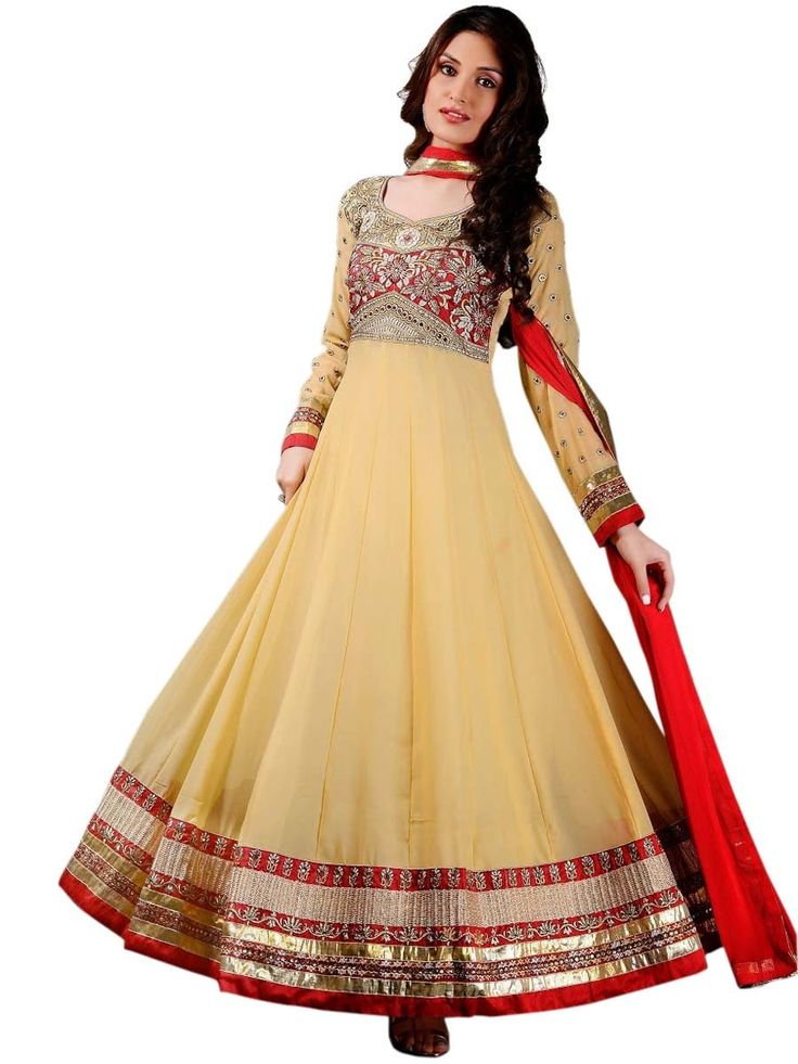 Fabulous Georgette #Anarkali #Suit. Item Code: SLMG504