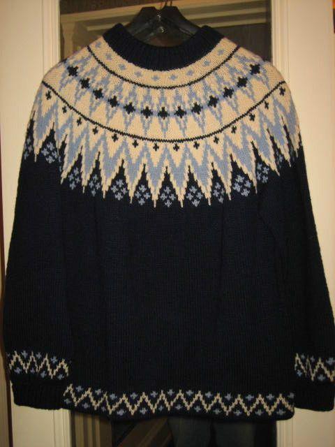 Vintage NEW Handmade 100% Wool Norwegian Ski Sweater by WILLIAM SCHMIDT Norway #Handmade #Crewneck
