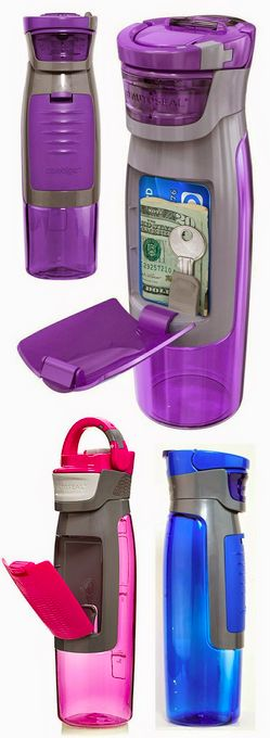 This awesome bottles holds all your accessories when working out. Genius!