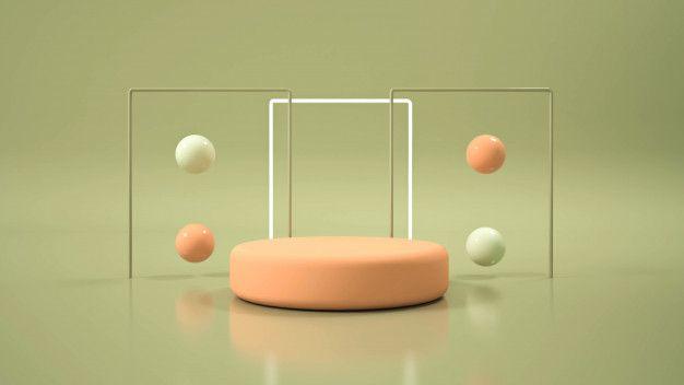 Modern Minimalist Mockup Podium Display Modern Minimalist Scenic Design Minimalist
