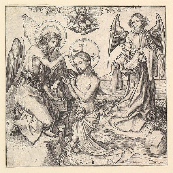 Martin Schongauer | Baptism of Christ | The Metropolitan Museum of Art
