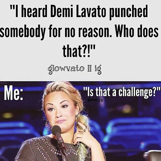 Demi Lovato❤  I think there was a reason... wasnt that dancer flirting with Joejonas or something?? XP Idk. ️