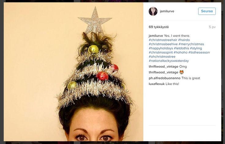 Jouluinen+hiustrendi+herättää+taatusti+huomiota+–+hiukset+kuin+joulukuusi