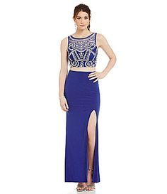 2 piece prom dress dillards dept store