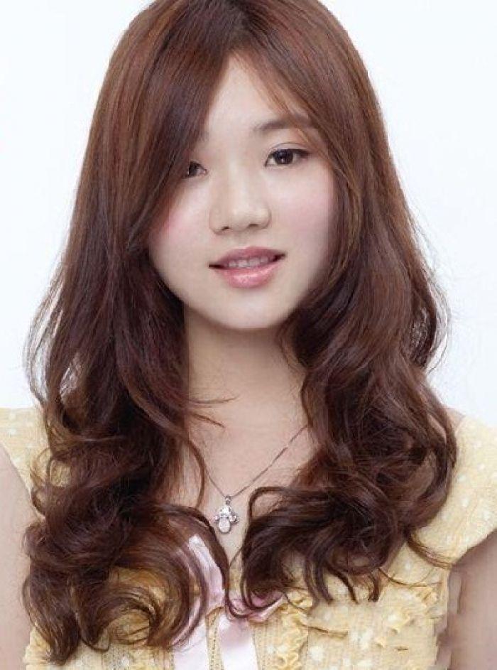 Best Korean Medium Hairstyles Ideas On Pinterest Korean Hair - Hairstyle for round face asian girl