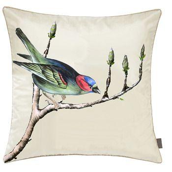 Pernuta decorativa pictata manual 40x40cm - Fetes des Tissus Birds