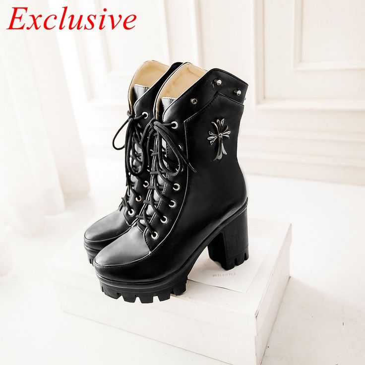Gothic Shoes 2015 Latest Gothic Shoes women Winter Spring Autumn Womens Boots Plus Size Boots Black Red Khaki Gothic S Gothic…